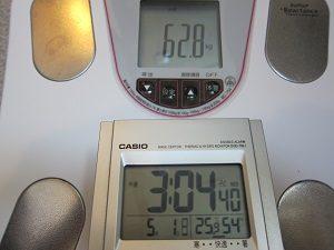 停滞期の体重計
