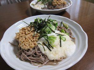 納豆山芋オクラ蕎麦