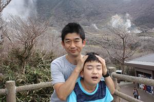 箱根旅行にて。旦那くんと息子くん