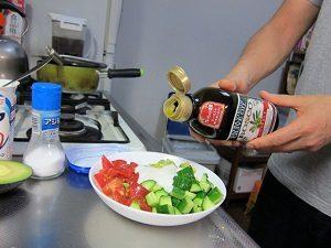 水切りヨーグルトのサラダ