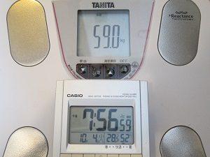 20161004の体重