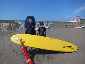 大磯海岸でボディーボードをしたよん