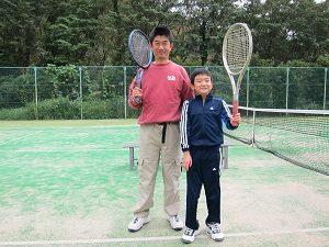 休日に息子くんとテニス