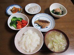 いろんな食材を少しずつ。これ、Amiがダイエット指導してる旦那くんの晩ごはんだよん