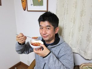 ホットトマトジュースのスープ