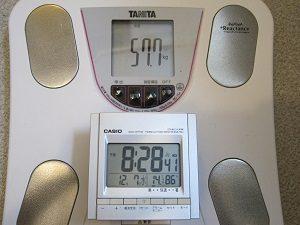 2016/12/7の旦那くんの体重は57.7㎏!