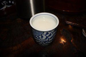 甘酒茶屋で飲んだ甘酒