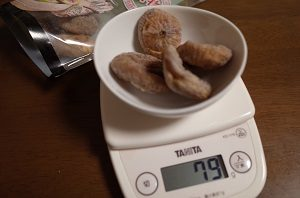 イチジクのドライフルーツを4個食べました