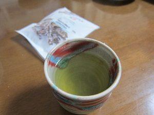 緑茶を入れました