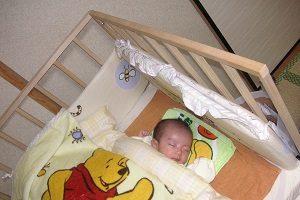 寝付いてくれた赤ちゃん