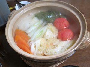 脂肪燃焼スープを土鍋で作ってみた