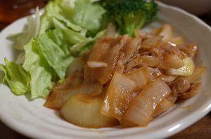 ココナッツオイル使った豚の生姜焼き
