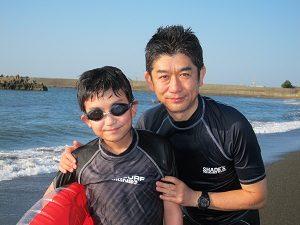 大磯の海岸にて。ボディボードをしたよん♡
