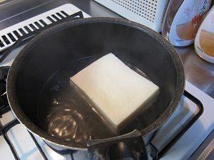 高野豆腐、お鍋で煮るとデロ~ンって感じ。