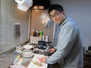 旦那くん、高野豆腐リゾット、自分で作ってます。