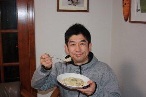高野豆腐ダイエット、満足気な旦那くん