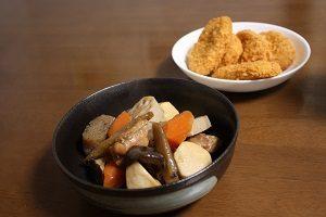 筑前煮とコロッケ。どっちがダイエットに良いのかな?
