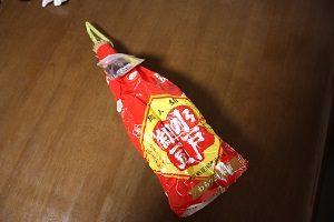 最近じゃ珍しい、藁入りの納豆。成田山で買ってきた