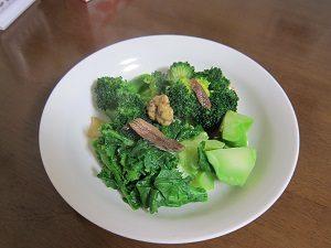 温野菜のサラダは満腹感があるよ。