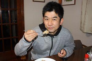 旦那くん、玄米ピラフ美味しく食べてくれた