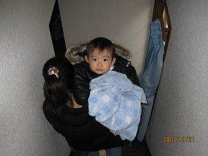 息子くん2歳の時の写真