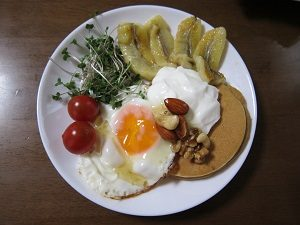 ホットバナナで朝食