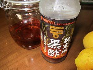 お酢の中でも黒酢はアミノ酸が豊富だからおすすめだよ