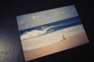 思い出のノースのパイプライン。稲村の波に乗れてもここの波は無理だった・・・。