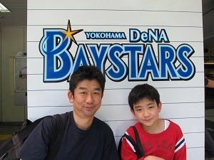 Amiがダイエット指導してる旦那くんと息子くんは大の横浜DeNA  BAYSTARSファンだ。