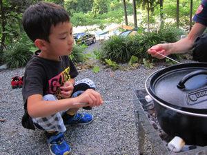 ダッチオーブンの中華粥、めちゃ美味しいよ