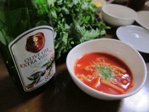 トマトのスープは冷たくても美味しいよ