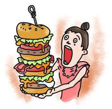ハンバーガーはNGかも・・・