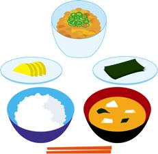 和食に出てくるようなごはんにすると効果的だよん。