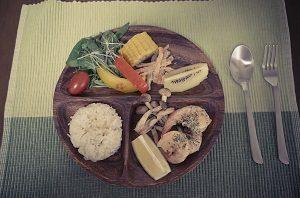 Amiが玄米の雑穀米で作ったワンプレート