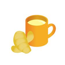 生姜にははちみつと紅茶がよく合うよん