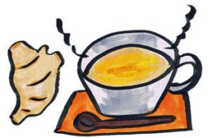 生姜白湯、少しあつ〜いてな位がイイよ。