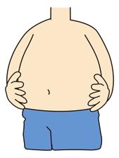内臓脂肪がついた体をリンゴ型体型っていいマス。