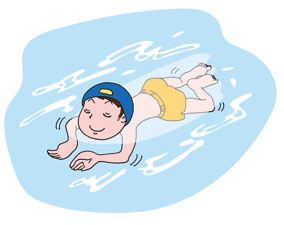 平泳ぎ、消費カロリー高っ!
