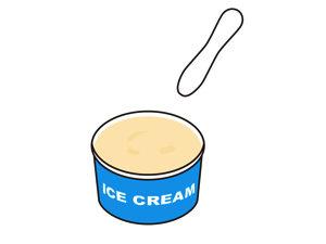 アイスが朝ごはん〜