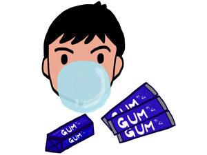 ガムダイエット、ぼんやりやってると片方の奥歯だけで噛みがちかも。