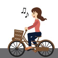 お買い物は車じゃなくて自転車〜♪