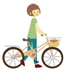 買い物には自転車〜♪