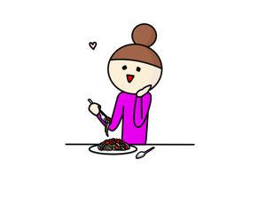 カツ丼、ラーメン、それにパスタ。み〜んな大好き!