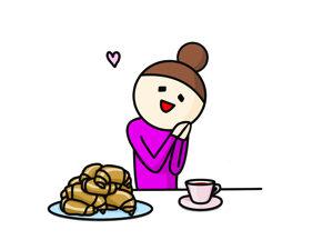 アタシはパン、食べちゃうけどね〜